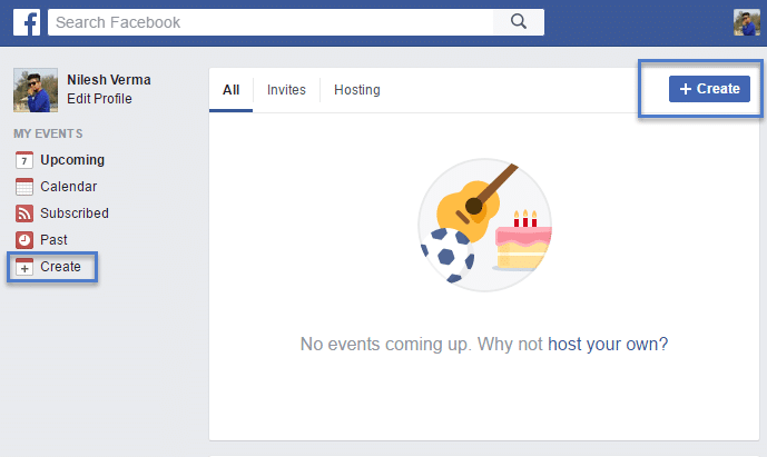 create events in fb