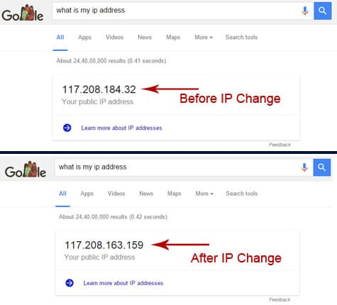 Change IP Address Hindi