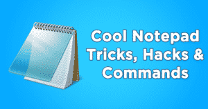Notepad tips in hindi