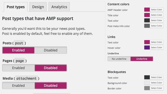 yoast AMP customize option hindi